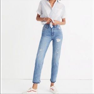 NWOT Madewell Classic Straight Jean